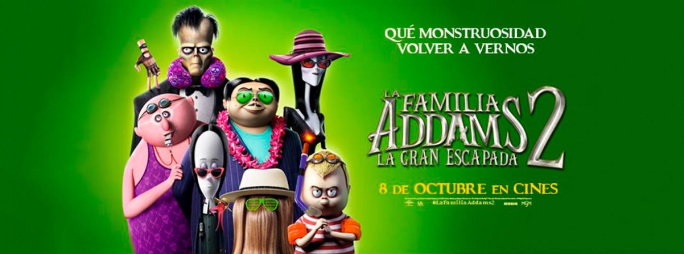 Película destacada La familia Addams 2 en Cines Cristal de Lugo