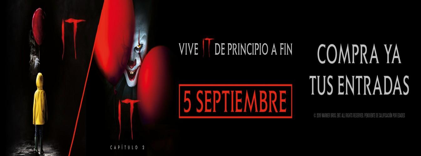 Película destacada MARATÓN: IT + IT. CAPÍTULO 2 en Cines Cristal de Lugo