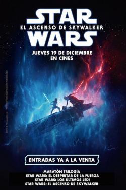 Entradas película Maratón Star Wars (Episodios VII, VIII y IX) ya a la venta en Cines Cristal de Lugo