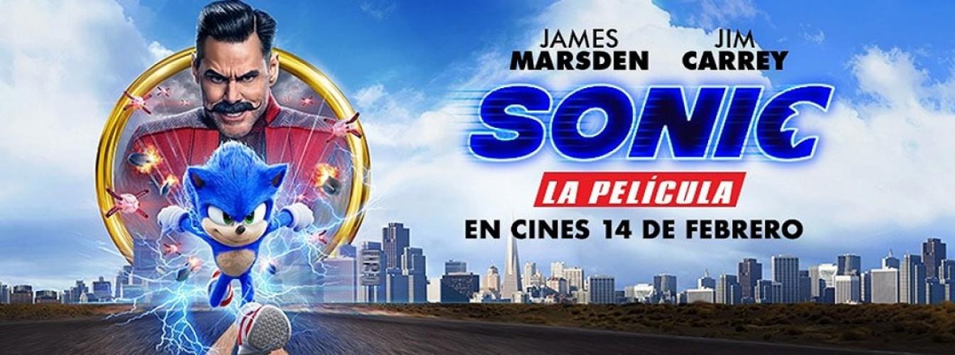 Película destacada Sonic la película en Cines Cristal de Lugo
