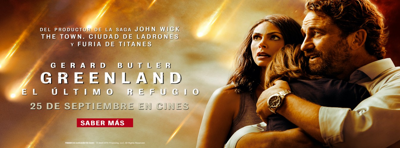 Película destacada Greenland: El último refugio en Cines Cristal de Lugo