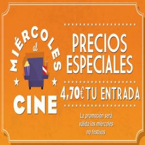 Promoción Miércoles al cine en Cines Cristal de Lugo