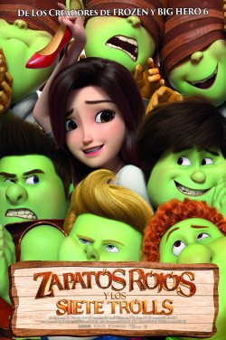 Película Zapatos rojos y los siete trolls hoy en cartelera en Cines Cristal de Lugo