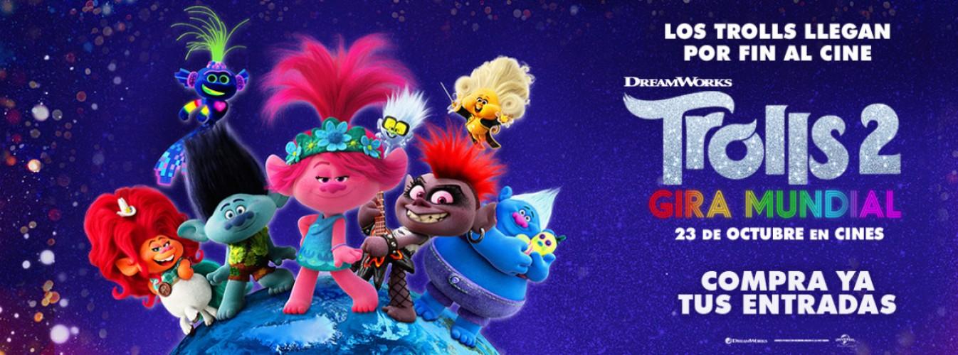 Película destacada Trolls 2 - Gira mundial en Cines Cristal de Lugo