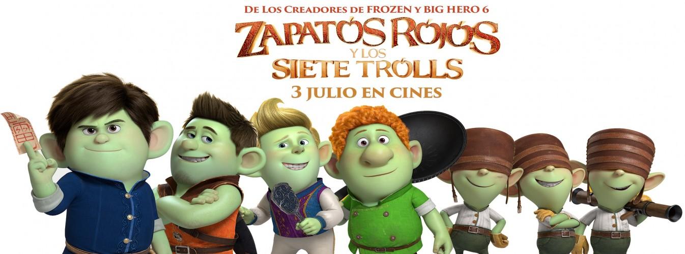 Película destacada Zapatos rojos y los siete trolls en Cines Cristal de Lugo