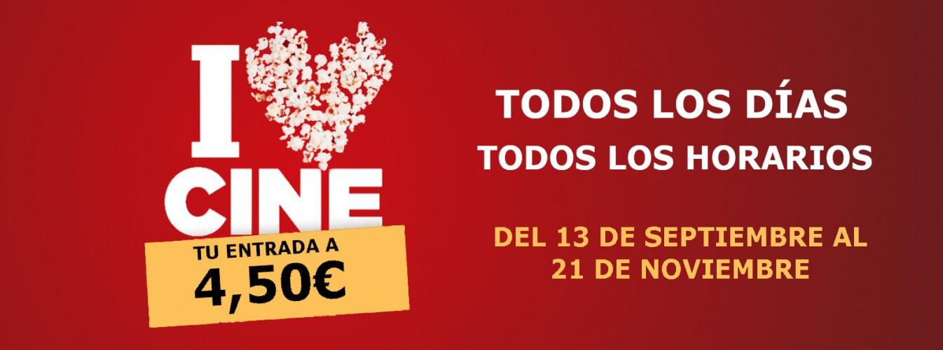 Promoción destacada Tu entrada a 4,50€ todos los días en Cines Cristal de Lugo