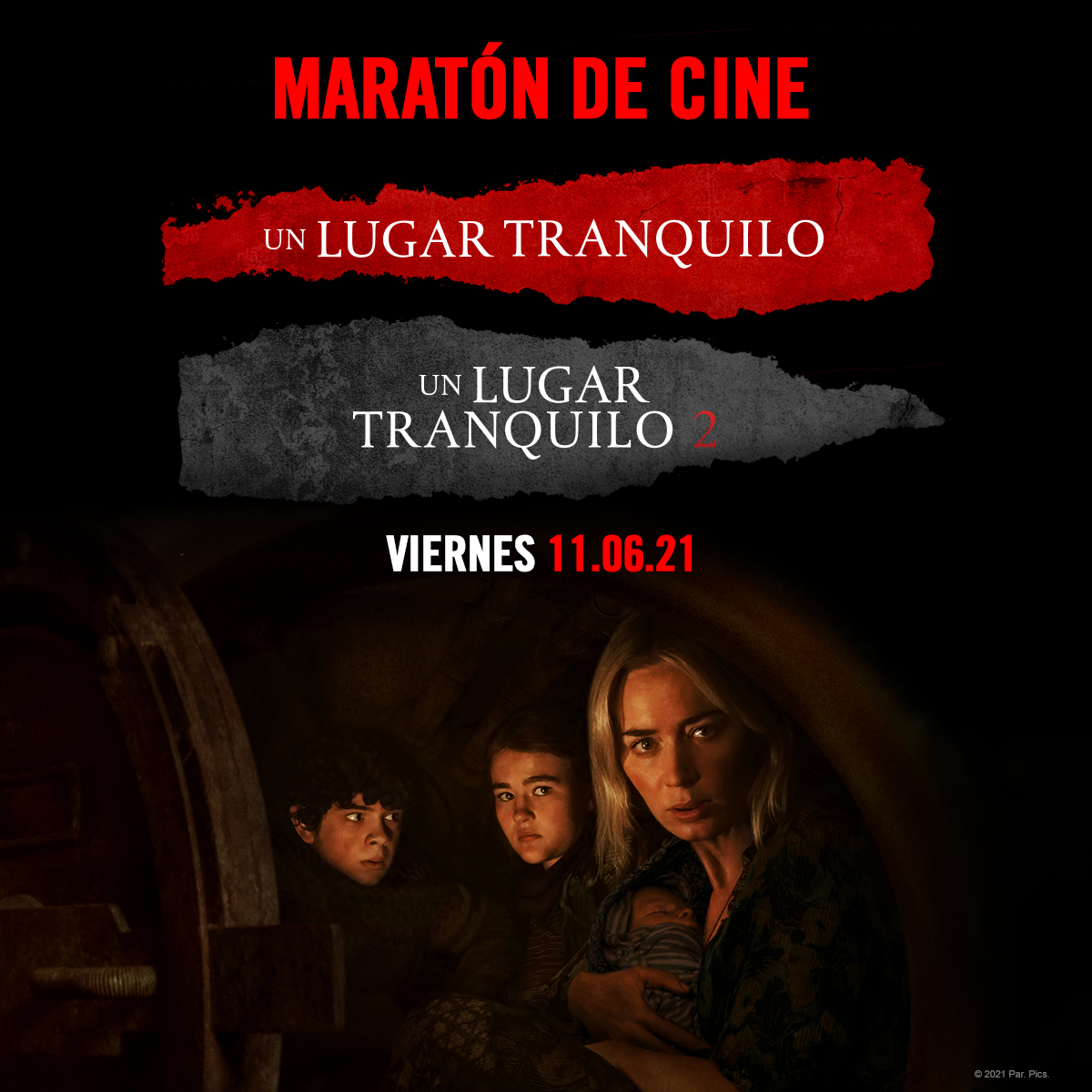 Película Maratón: Un Lugar Tranquilo en Cines Cristal de Lugo
