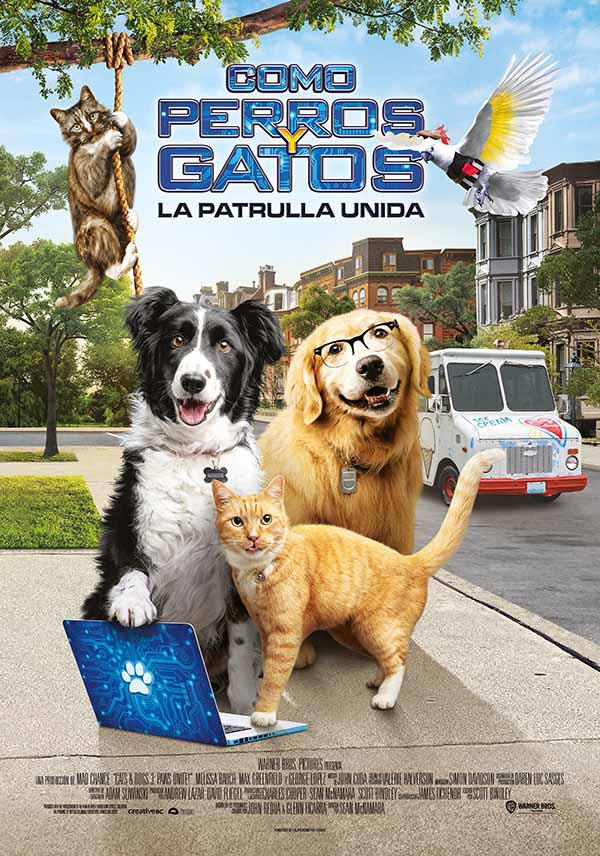 Película Como perros y gatos: La patrulla unida hoy en cartelera en Cines Cristal de Lugo