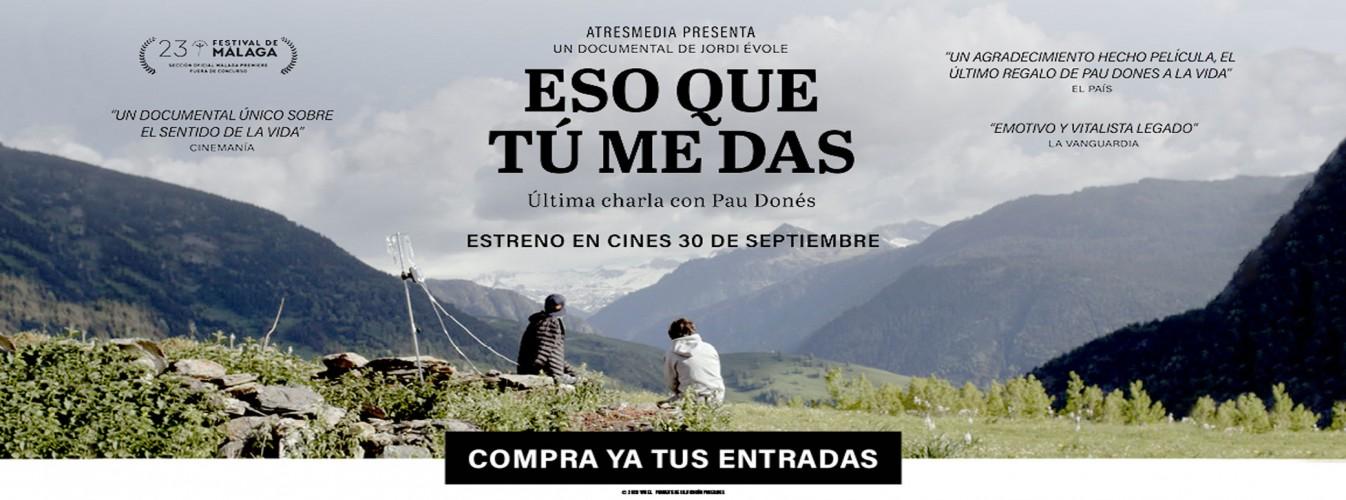 Película destacada Eso que tú me das en Cines Cristal de Lugo